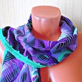 """Фиолетовый шарф ручной работы из ткани """"Сладкий ирис"""""""