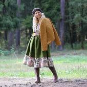 Платье-сарафан в стиле бохо шерстяное