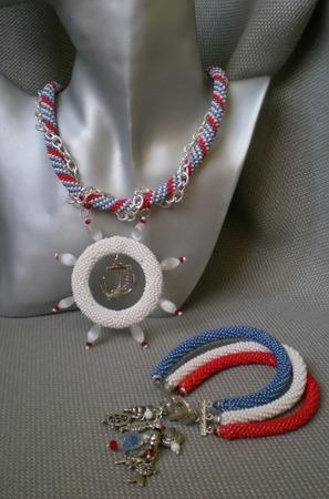 """Комплект """"Моя морячка"""" ручной работы на заказ"""