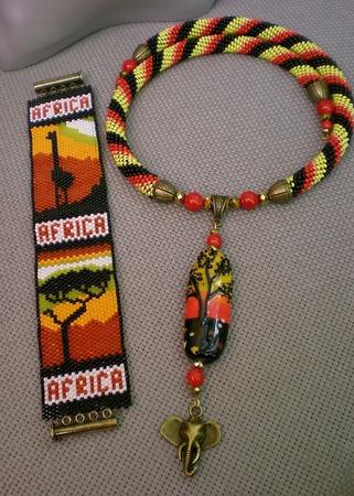 """Комплект """"Африка"""" ручной работы на заказ"""