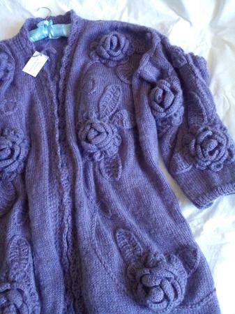 """Вязаный кардиган """"Цветы"""" от Knit by Heart ручной работы на заказ"""
