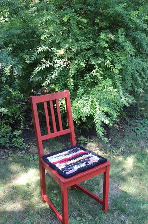 Сидушка-подстилка на стул табурет ручной работы на заказ