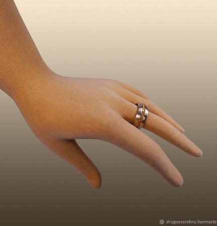 """Кольцо серебро унисекс """"Клондайк"""" ручной работы на заказ"""
