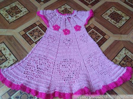 Платье для девочки летнее ручной работы на заказ