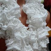 Шарф вязанный белый