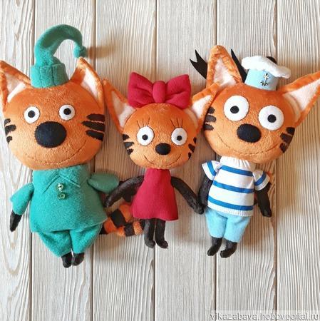 "Три кота: Компот, Коржик и Карамелька (м/ф ""Три кота"") ручной работы на заказ"