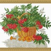 фото: Схемы для вышивания — вышивка ручной работы (ягоды рябины)