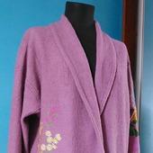 Пальто- накидка с вышивкой