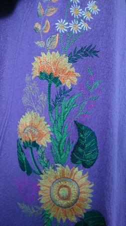 Пальто- накидка с вышивкой ручной работы на заказ