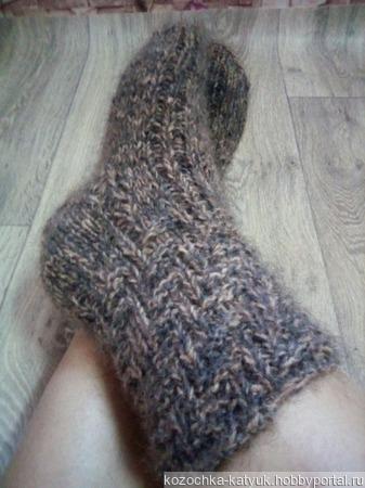 Носки пух+шерсть ручной работы на заказ