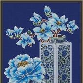 """Схема для вышивки крестом """"Натюрморт в китайском стиле"""""""