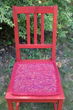 Сидушка-подстилка на стул табурет 2 ручной работы на заказ