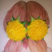 "Резинки для волос ""Хризантемки"""