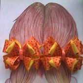 """Резинки для волос """"Бантики в горошек"""""""