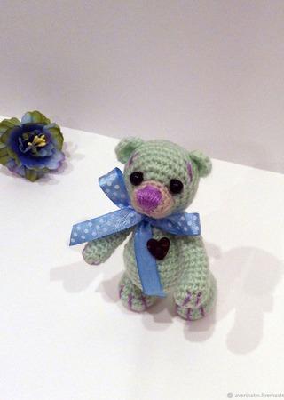 Мишка с цветным носиком ручной работы на заказ