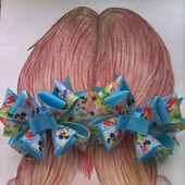 Бантики для волос из репсовой ленты