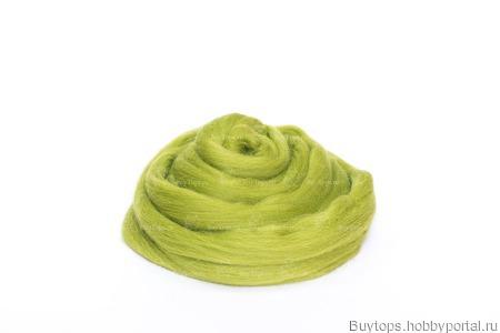 Толстая пряжа из шерсти мериноса 25 микрон Цвет: Аспарагус ручной работы на заказ