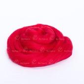 Толстая пряжа из шерсти мериноса 25 микрон. Цвет: Красный