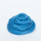 Толстая пряжа из шерсти мериноса 25 микрон Цвет: Голубой