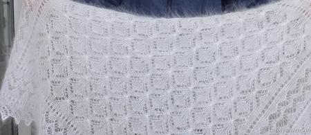 """Пуховая шаль-паутинка """"Подарок любимым"""" №54 ручной работы на заказ"""