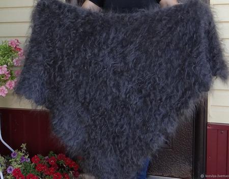 Пуховый платок Урюпинский ручной работы на заказ