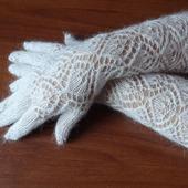 Перчатки длинные пуховые