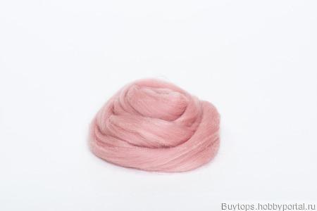 Толстая пряжа из шерсти мериноса 25 микрон Цвет: Нежный румянец ручной работы на заказ