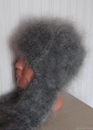 Шапка-ушанка пуховая ручной работы на заказ