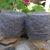 Пуховая пряжа ручного прядения - козий пух