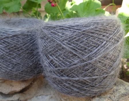 Пуховая пряжа ручного прядения - козий пух ручной работы на заказ