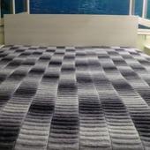 Дизайнерское покрывало вязаное в стиле кантри