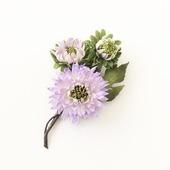 Брошь хризантемы светло-сиреневые