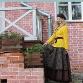 Твидовая юбка в стиле бохо