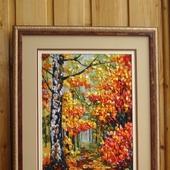 """Картина вышитая """"Яркая осень"""""""