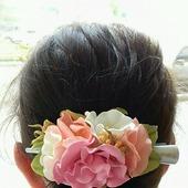 фото: заколка-цветок