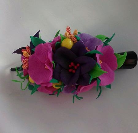 Заколки с цветами на заказ ручной работы на заказ