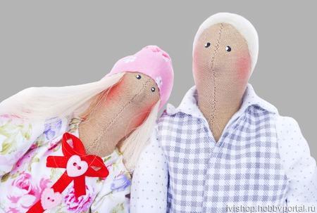 Куклы Тильды парочка Неразлучники. Цена за 2 шт! ручной работы на заказ