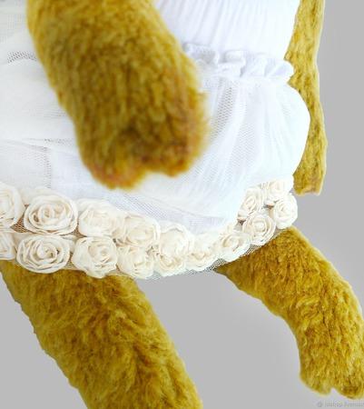 Коллекционная свинка тедди Венеция - невеста. Символ 2019 нового года ручной работы на заказ