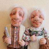 Дед Прокофий и бабушка Настя (цена за одну куклу)