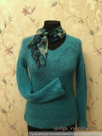 "Пуловер ""Шарм"" вязаный ручной работы на заказ"