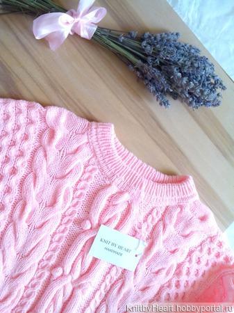 Вязаный свитер из хлопка от Knit by Heart в Москве ручной работы на заказ