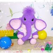Слонёнок - вязаная игрушка