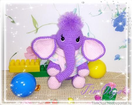Слонёнок - вязаная игрушка ручной работы на заказ