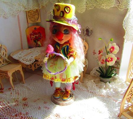 Кукла - Нона-клоунесса ручной работы на заказ