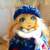 Кукла Алёнушка - зимняя красавица