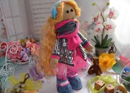 "Кукла Рита, звезда ""Диско"" ручной работы на заказ"