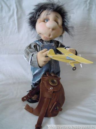 Лётчик Валерий. ручной работы на заказ