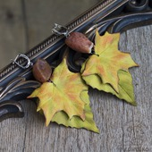 Серьги из кожи Шелест Осени