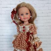 Платье для куклы в стиле шебби шик