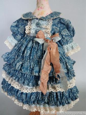 Платье для куклы в стиле шебби шик ручной работы на заказ
